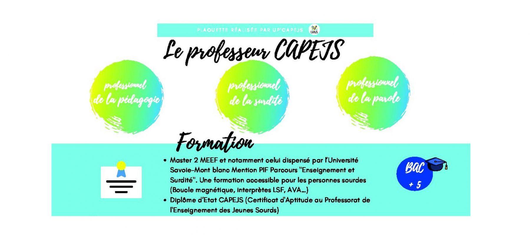 La plaquette des missions du professeur CAPEJS – rentrée 2021