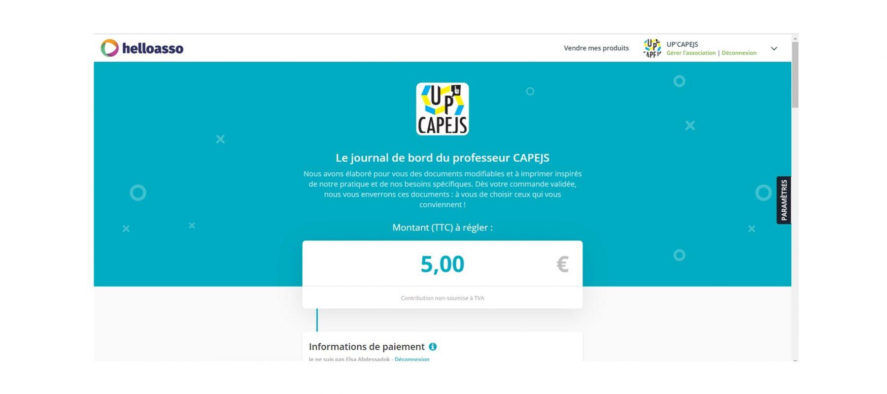 Le journal de bord d'UP'CAPEJS 2021-2022
